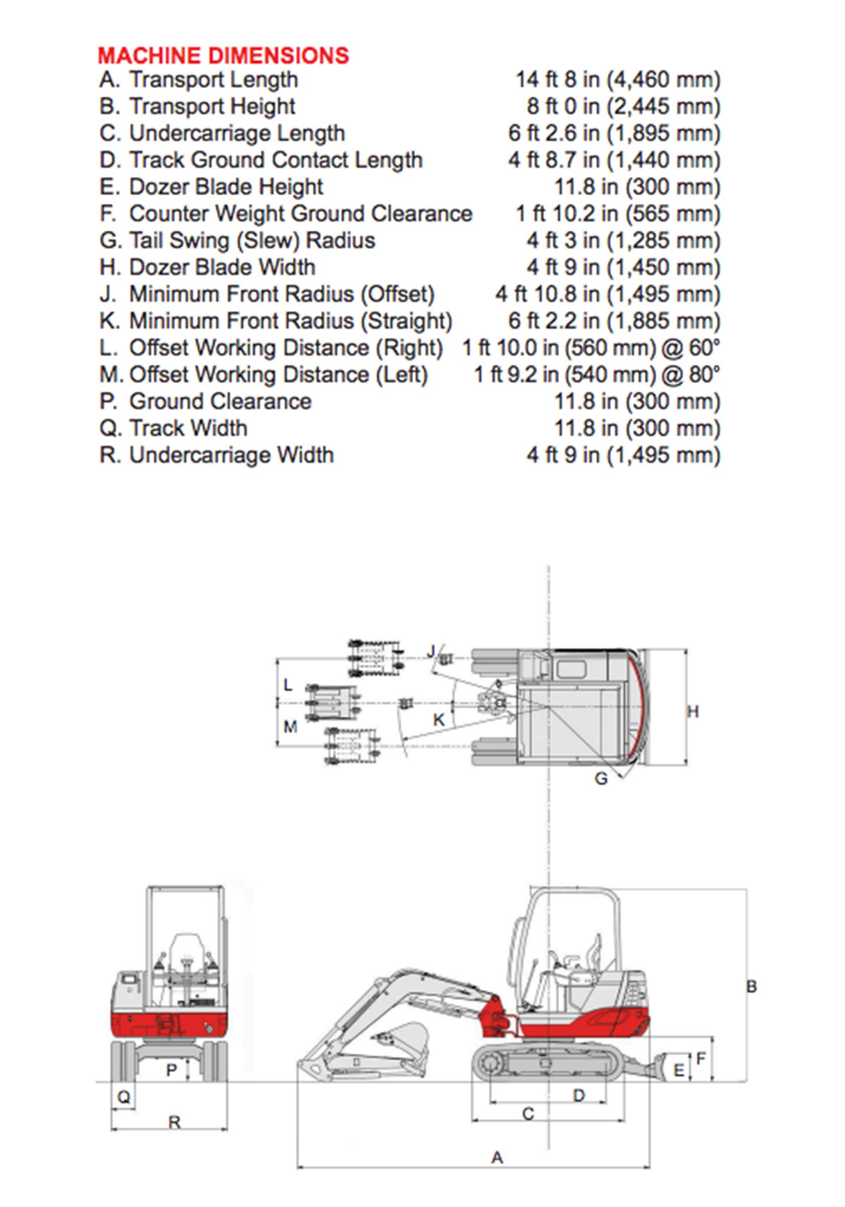 Takeuchi Mini Excavator Rentals at Oconee Rental, Inc