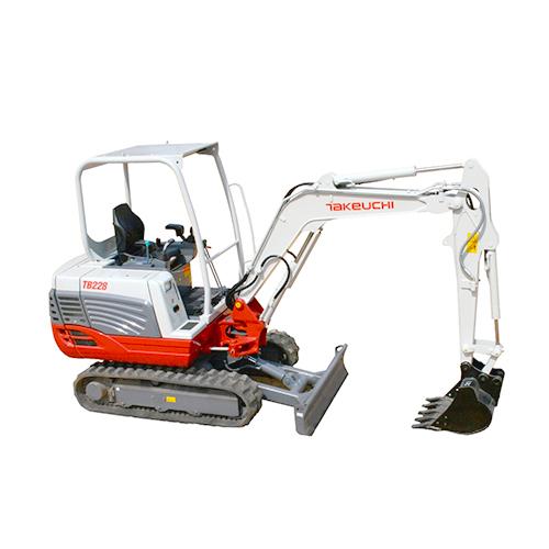 TAKEUCHI TB240: Compact Excavator Rentals at Oconee Rental Inc